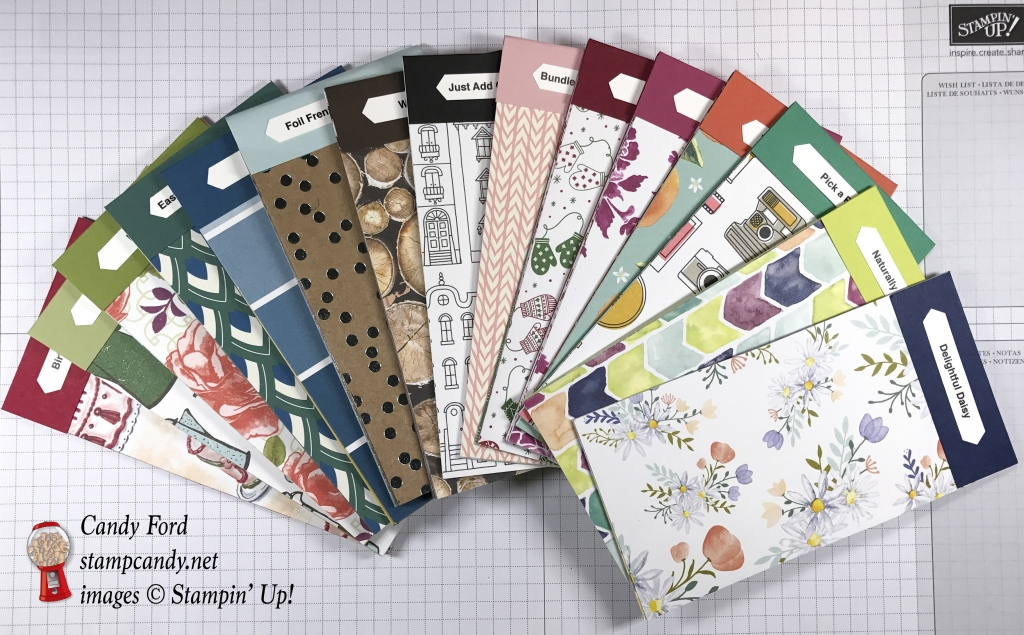 Order your Swatch Books of all the Designer Series Papers from the 2017-2018 Stampin' Up! Annual Catalog #stampcandy