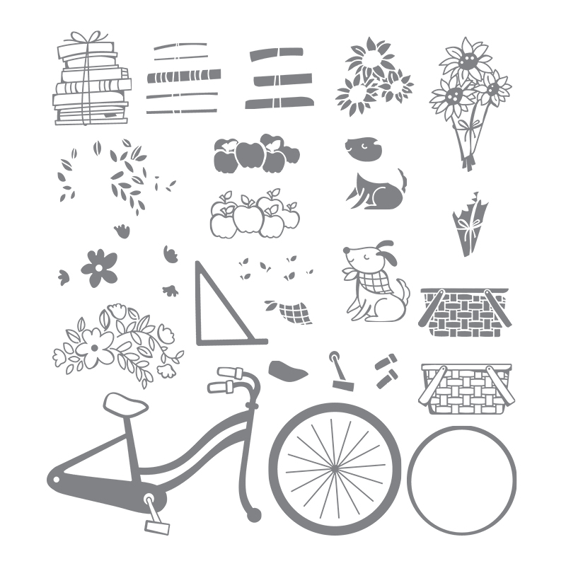 Bike Ride stamp set coordinates with the Build a Bike Framelits Dies by Stampin' Up! #stampcandy