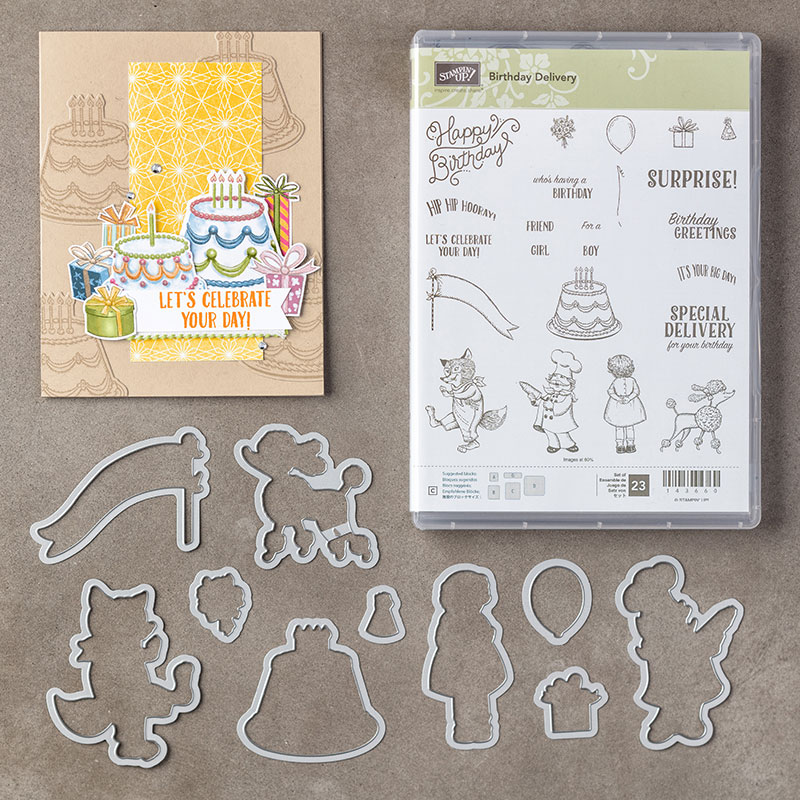 My favorite new Stampin' Up! products #stampcandy Birthday Delivery Bundle