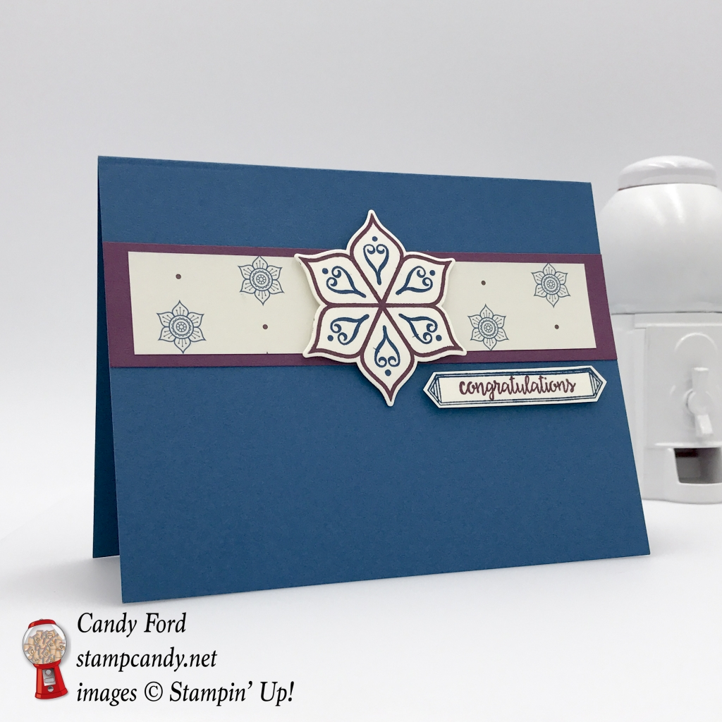 Eastern Palace DSP one sheet wonder 8 of 12. Stampin' Up! #stampcandy