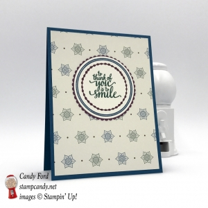 Eastern Palace Designer Series Paper one sheet wonder card, To think of you is to smile, Stampin