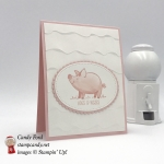 This Little Piggy is so adorable with its Hogs and Kisses, and the Ruffled embossing folder is so sweet. Stampin