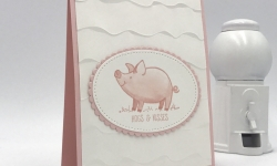 This Little Piggy is so adorable with its Hogs and Kisses, and the Ruffled embossing folder is so sweet. Stampin' Up! #stampcandy