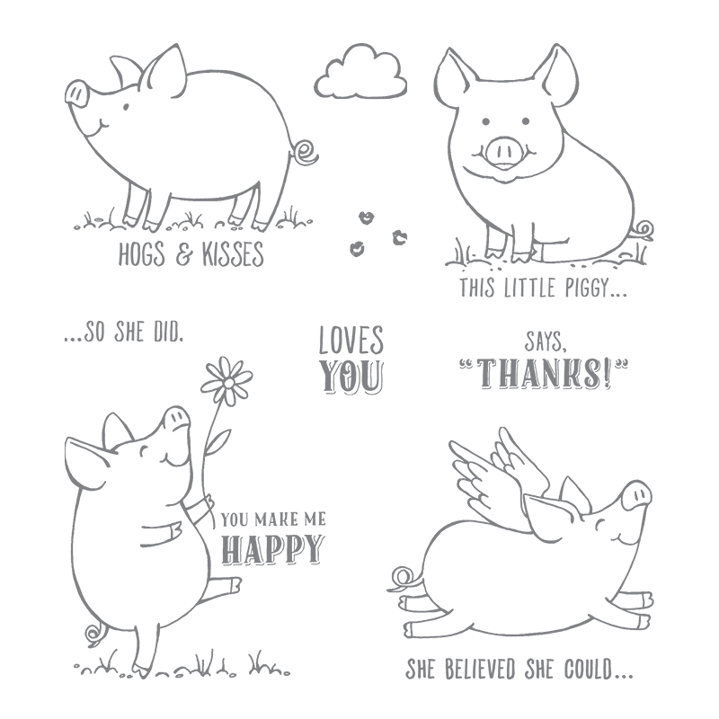 This Little Piggy stamp set by Stampin' Up! #stampcandy