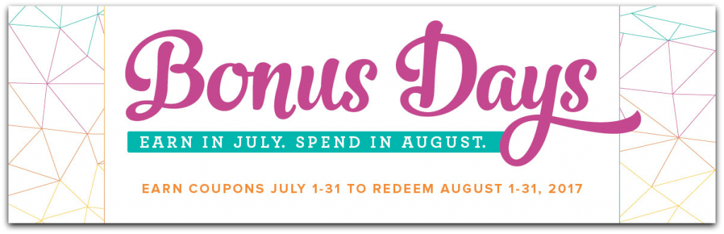 Bonus Days at Stampin' Up! Earn in July and Spend in August! #stampcandy