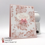 Thank you card, Floral Phrases stamp set, Fresh Florals DSP, 2017-2019 In Colors Bitty Bows, by Stampin