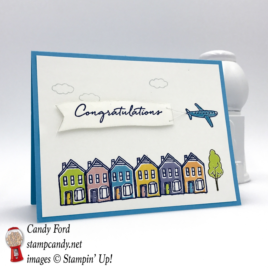 The new In The City host stamp set by Stampin' Up! is adorable! #stampcandy congratulations card