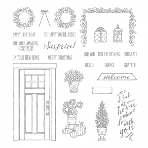 At Home With You stamp set by Stampin' Up! #stampcandy