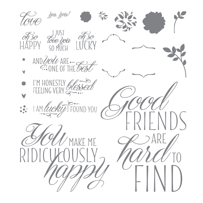 Lovely Friends stamp set by Stampin' Up! #stampcandy