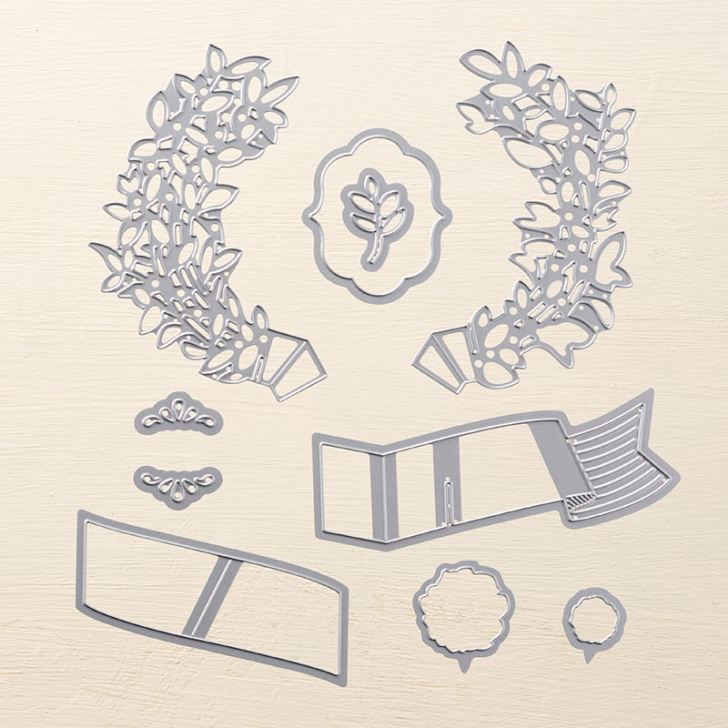 Lovely Laurel Thinlits Dies by Stampin' Up! #stampcandy