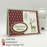 Merry Mistletoe stamp set and Be Merry DSP combine to make this quick and easy Christmas card. Stampin