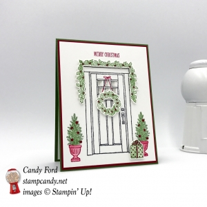 Merry Christmas card made with the At Home With You Bundle by Stampin