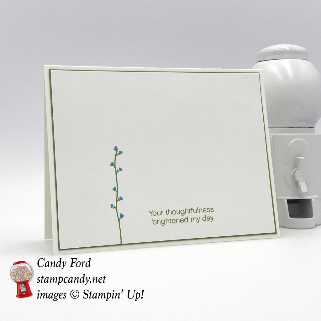 This is a very simple thank you card made with the Daisy Delight stamp set by Stampin' Up! #stampcandy