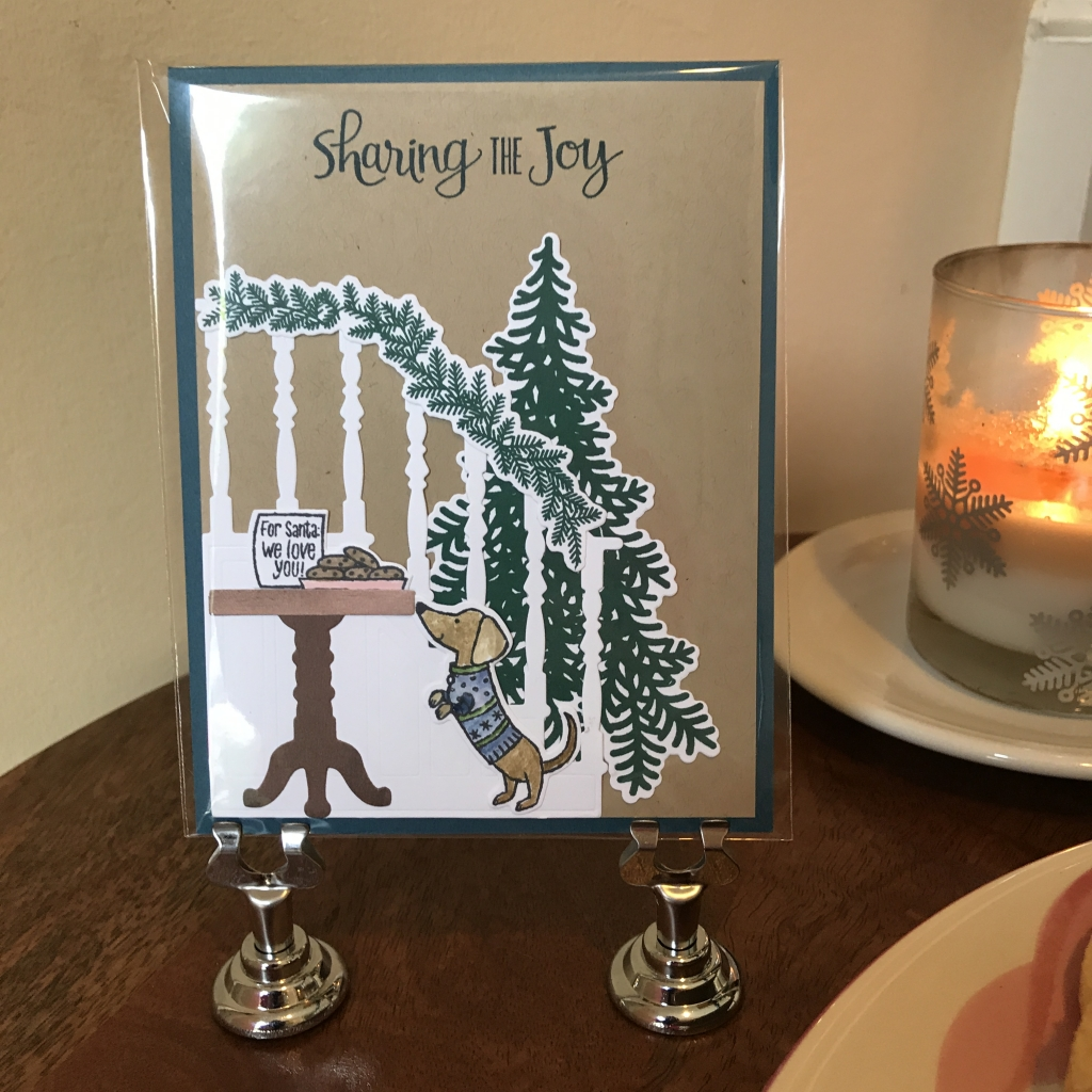 2017 Holiday Catalog Launch Party, Stampin'Up!, recreated scene from the Ready for Christmas card