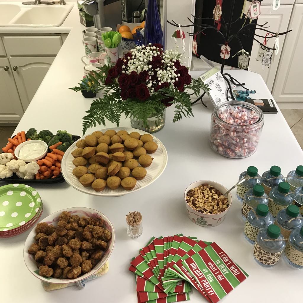 2017 Holiday Catalog Launch Party, Stampin' Up!, yummy snacks