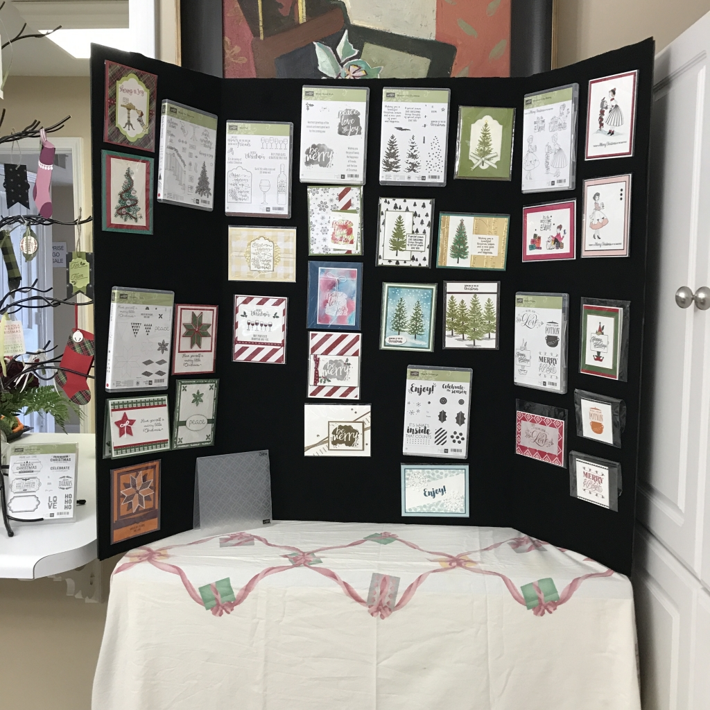 2017 Holiday Catalog Launch Party, Stampin' Up!, display board 1 full of cards