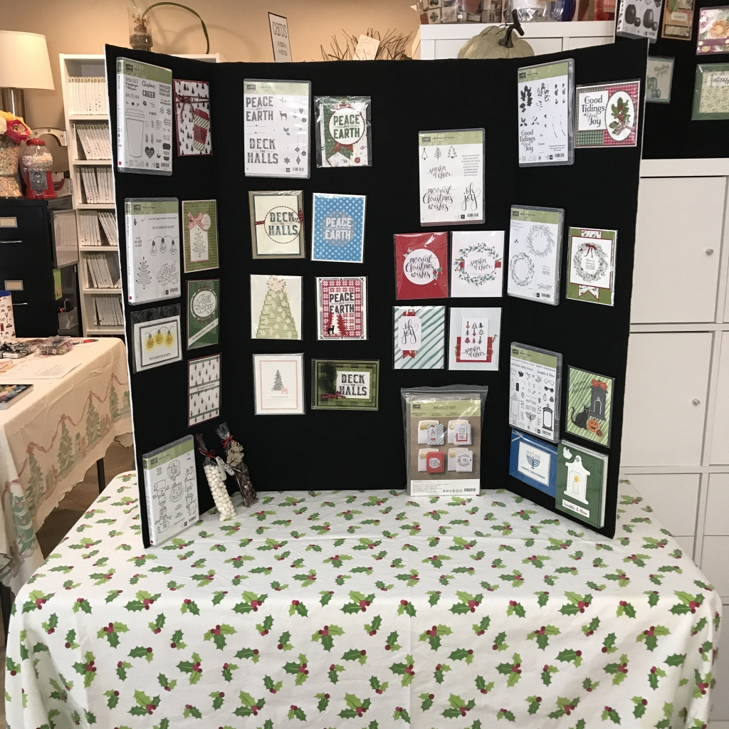2017 Holiday Catalog Launch Party, Stampin' Up!, display board 4 full of cards