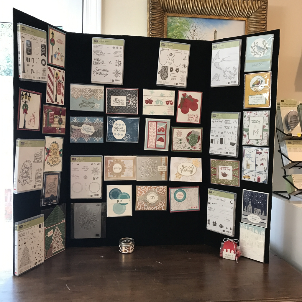 2017 Holiday Catalog Launch Party, Stampin' Up!, display board 3 full of cards