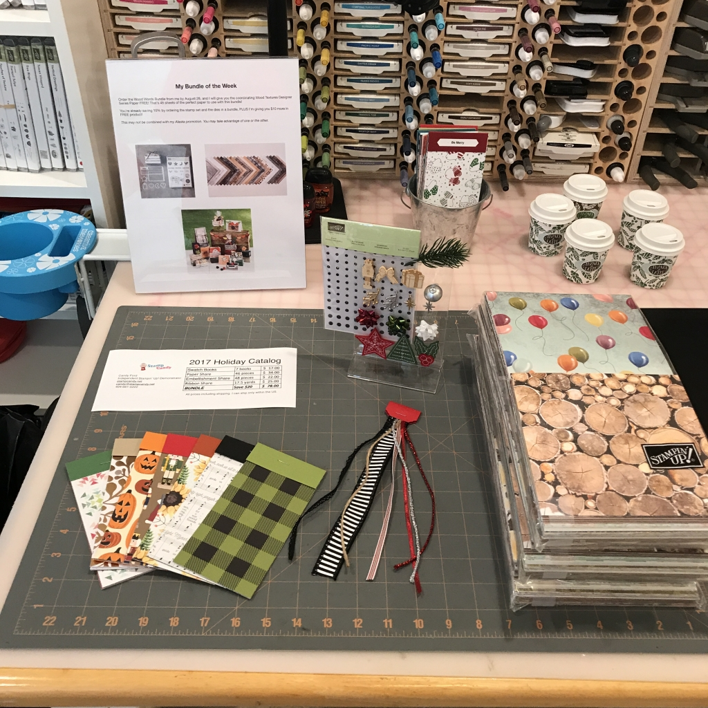 2017 Holiday Catalog Launch Party, Stampin' Up!, small samples for Swatch Books and Product Shares
