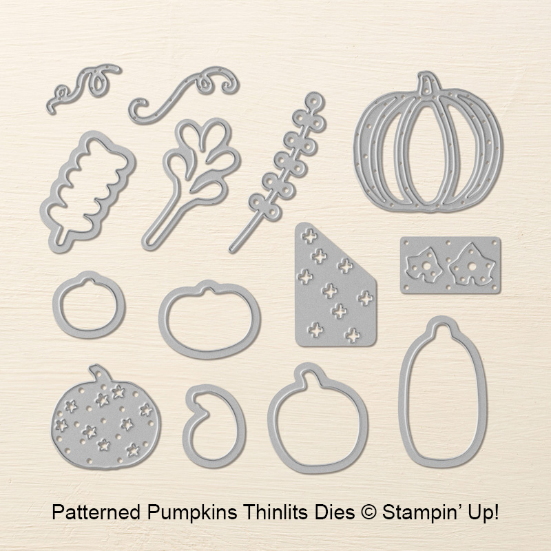 Patterned Pumpkins Thinlits Dies by Stampin' Up! #stampcandy