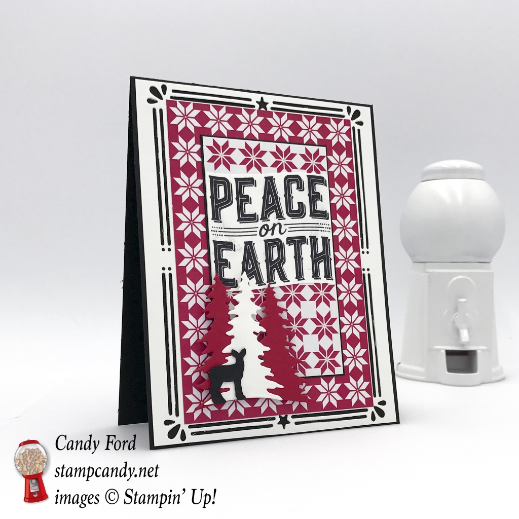 Peace on Earth card made with the Carols for Christmas stamp set and Card Front Builder Thinlist Dies by Stampin' Up!