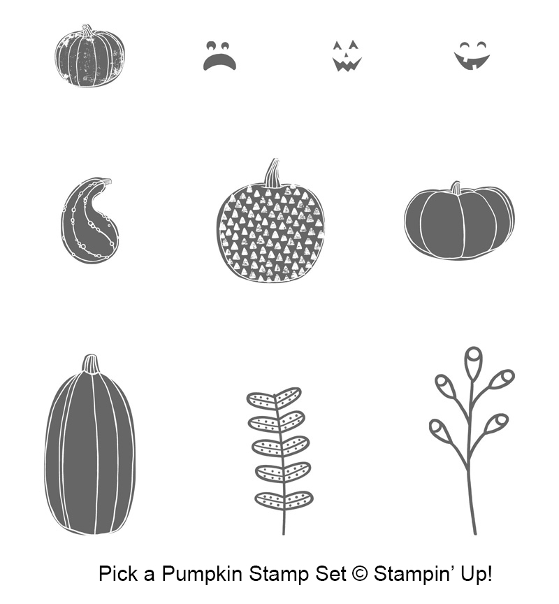Pick a Pumpkin stamp set by Stampin' Up! #stampcandy