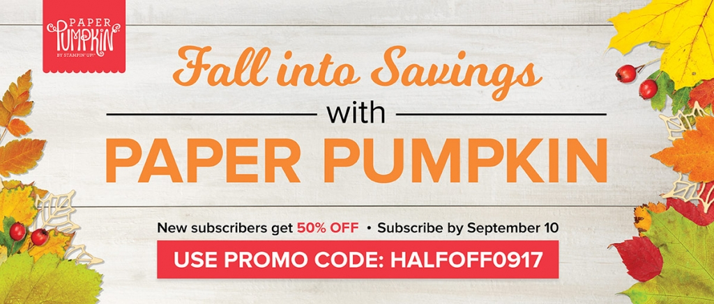 Half Off Fall Paper Pumpkin Promotion! #stampcandy