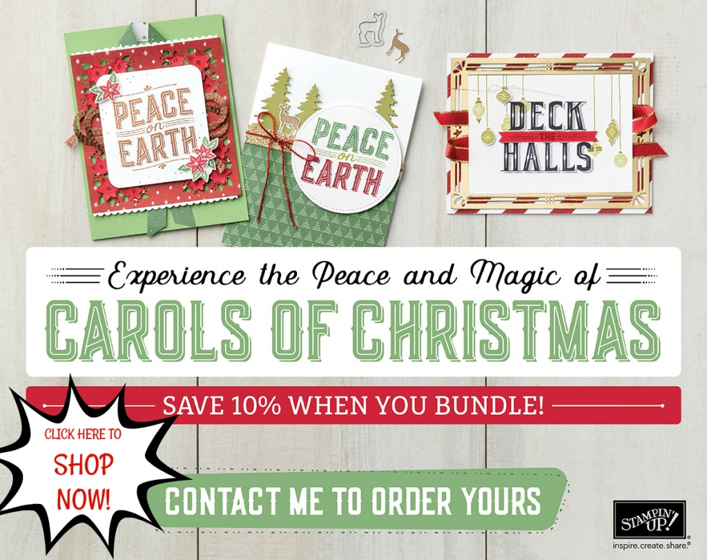 Carols of Christmas Bundle is now available from Stampin' Up! #stampcandy
