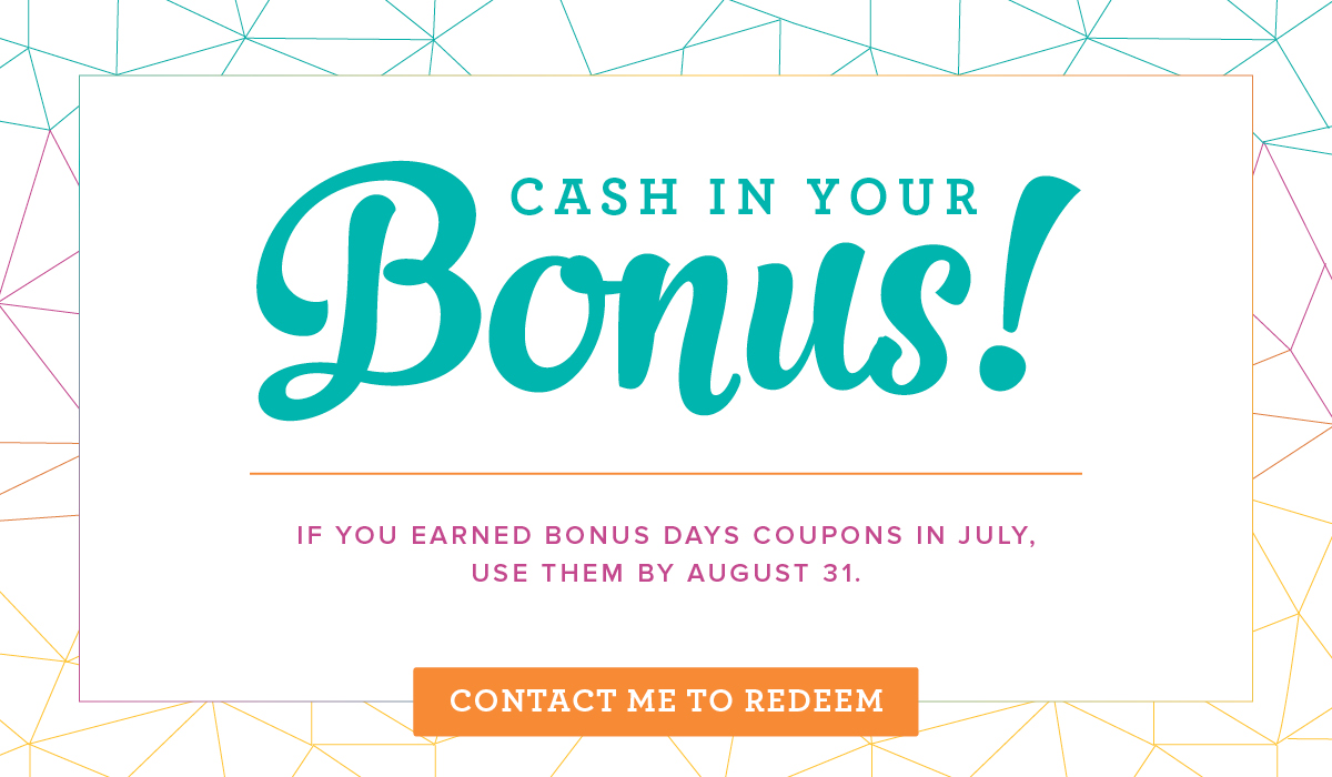 Cash in your Bonus Days coupons now! Stampin' Up! #stampcandy