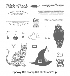 Spooky Cat stamp set by Stampin' Up! #stampcandy