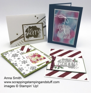 Rising Star swaps by Anna Smith, Every Good Wish stamp set by Stampin
