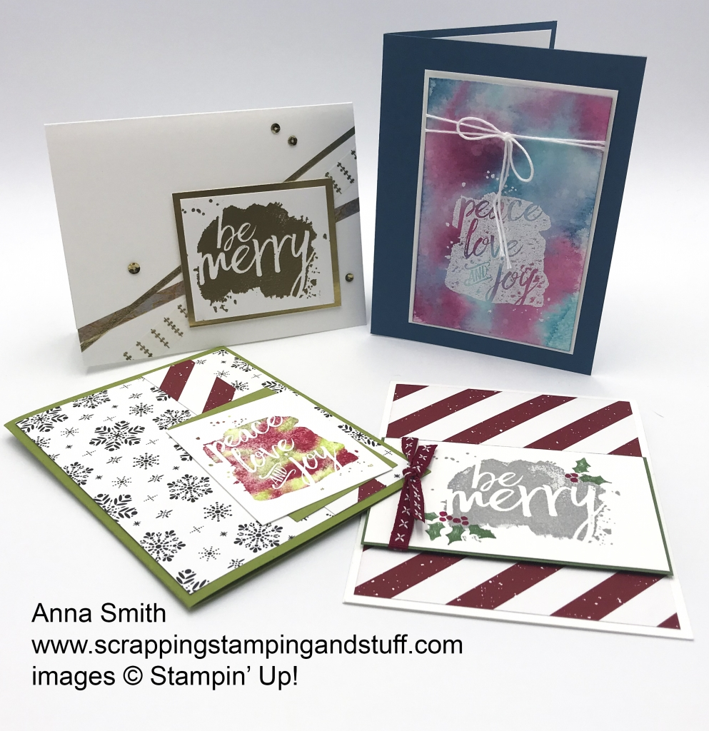 Rising Star swaps by Anna Smith, Every Good Wish stamp set by Stampin' Up!
