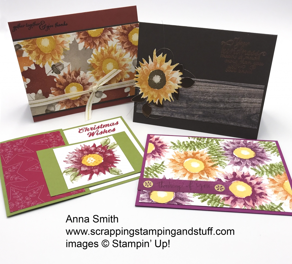 Rising Star swaps by Anna Smith, Painted Harvest bundle by Stampin' Up!