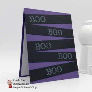 Creep It Real stamp set BOO Halloween card, Stampin