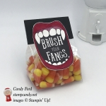 Brush Your Fangs candy corn treat bag Creep It Real stamp set Stampin