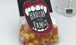 Brush Your Fangs candy corn treat bag Creep It Real stamp set Stampin' Up! #stampcandy