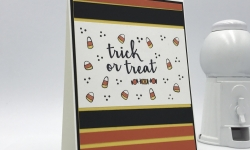 Trick or Treat Halloween card made with Creep It Real stamp set by Stampin' Up! #stampcandy