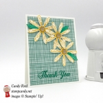 Hand Stamped Thank you card made using Stampin