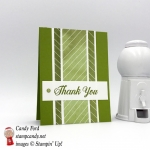 Simple Thank You Card in green featuring a sentiment with Stampin