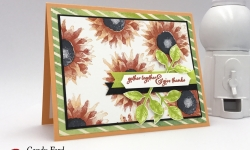 GDP105 Painted Harvest Bundle stamp set Leaf Punch card by Stampin' Up! stampcandy