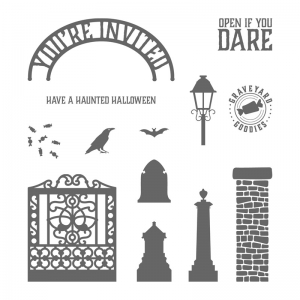 Graveyard Gate stamp set by Stampin' Up! #stampcandy