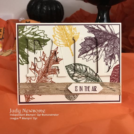 Judy Newsome Stampin' Up! Vintage Leaves Fall Eclipse Card for Stamp Candy