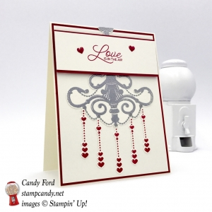 Love is in the Air card made with the Season to Sparkle bundle by Stampin