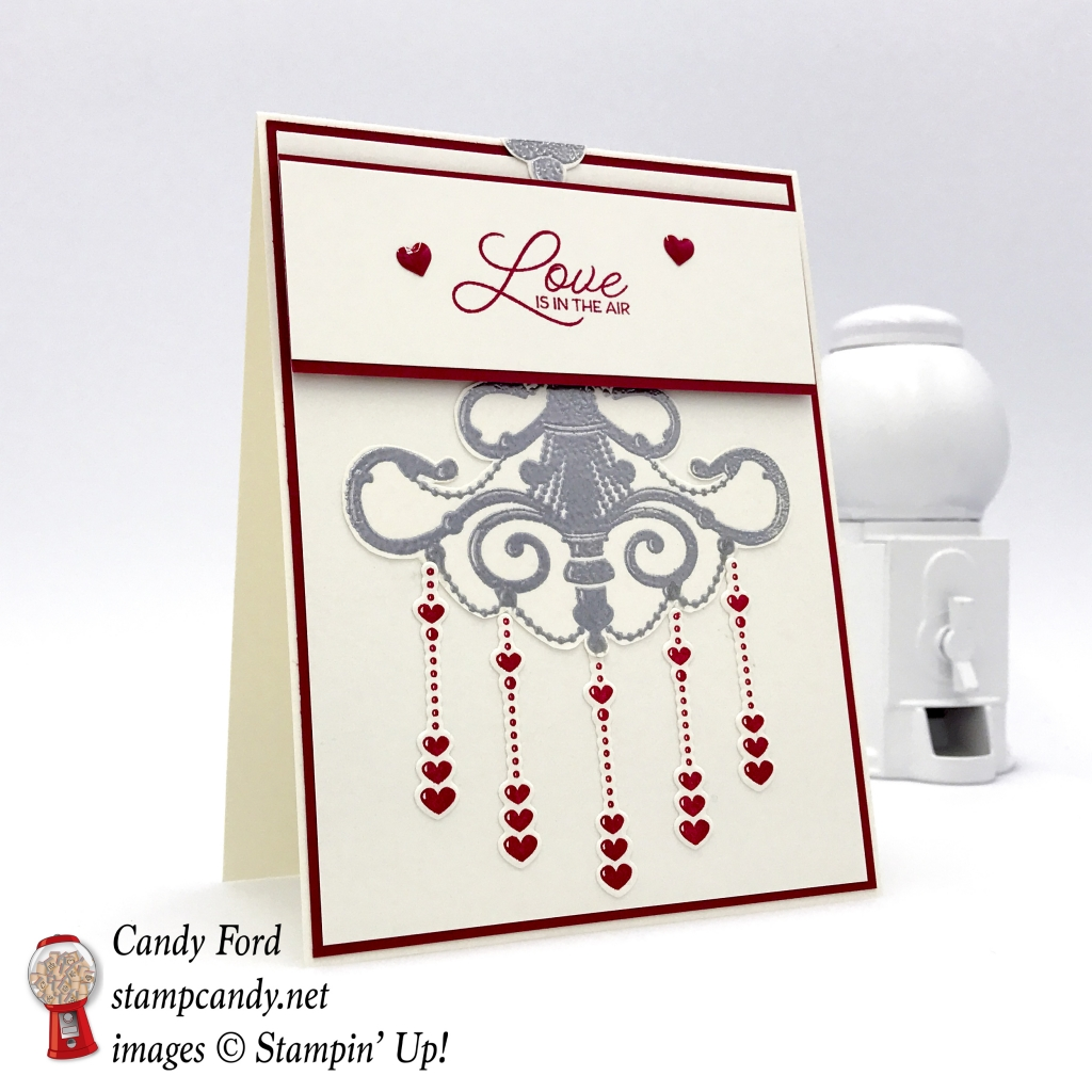 Love is in the Air card made with the Season to Sparkle bundle by Stampin' Up! #stampcandy