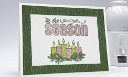 Merry Patterns stamp set, Quilted Christmas DSP, 'Tis the season, Christmas card, Stampin' Up! #stampcandy