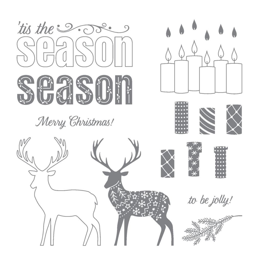 Merry Patterns Stamp Set by Stampin' Up! #stampcandy