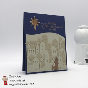 Night of Bethlehem stamp set Edgelit Dies, Christmas card, Rising Star swap, Stampin' Up! #stampcandy