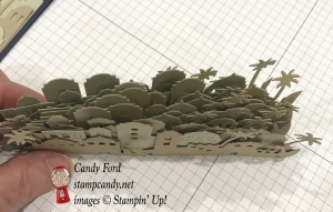 Night of Bethlehem Edgelits Dies make quick work of cutting all these buildings. Stampin' Up! #stampcandy