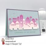 Night of Bethlehem stamp set Edgelit Dies, Christmas card, Rising Star swap, Stampin