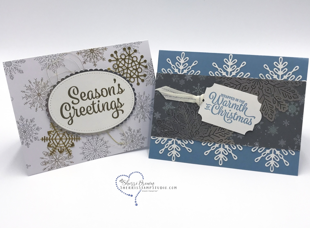 Rising Star swaps, Sherri Brown, Snowflake Sentiments bundle by Stampin' Up!